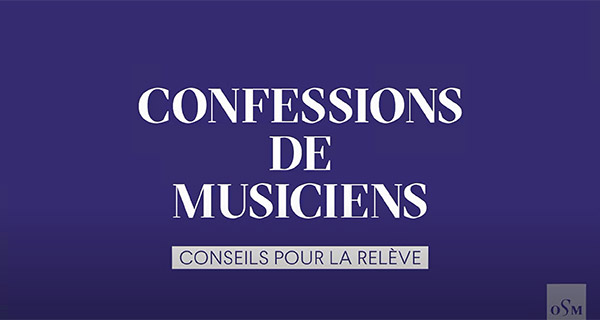 Musician's Confessions – Advice for young musicians